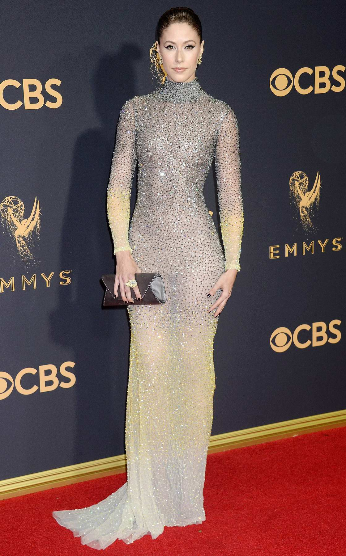 Amanda Crew at 69th Annual Primetime EMMY Awards held at Microsoft Theater in Los Angeles