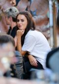 Amber Davies spotted out having lunch at The Living Room in Manchester, UK