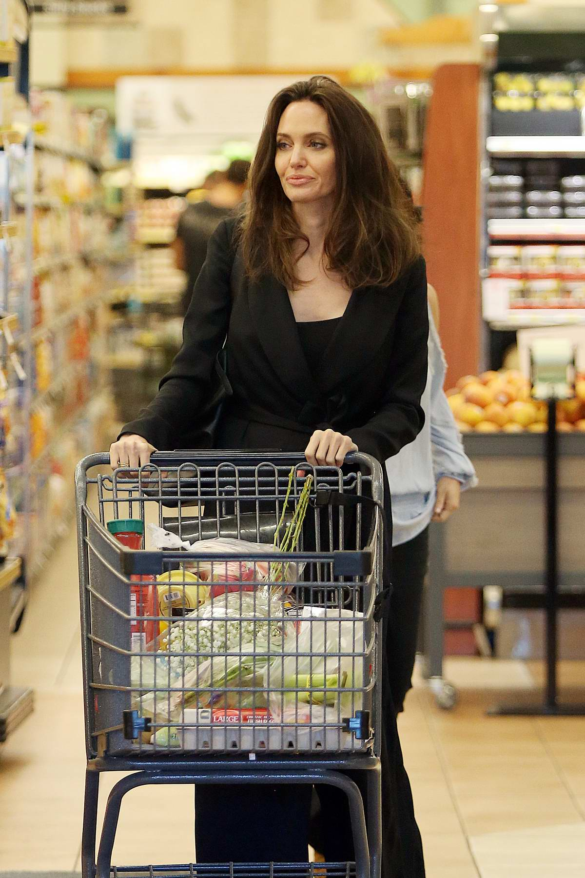 Angelina Jolie grocery shopping at Gelson's Markets in Los Feliz, California