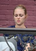 AnnaSophia Robb was spotted out studying at a cafe in New York City