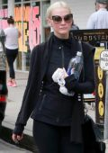 Ashlee Simpson Leaves The Gym In All Black Outfit After Her Early Morning Workout Studio City Los Angeles
