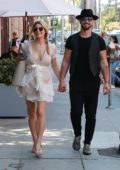 Ashley Greene and Paul Khoury out for lunch in Beverly Hills, Los Angeles