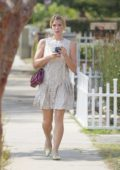 Ashley Greene in a summer dress out after a lunch date in Beverly Hills, Los Angeles