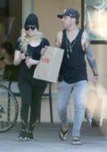Avril Lavigne and Ryan Cabrera have a fun sunday beach day in Malibu