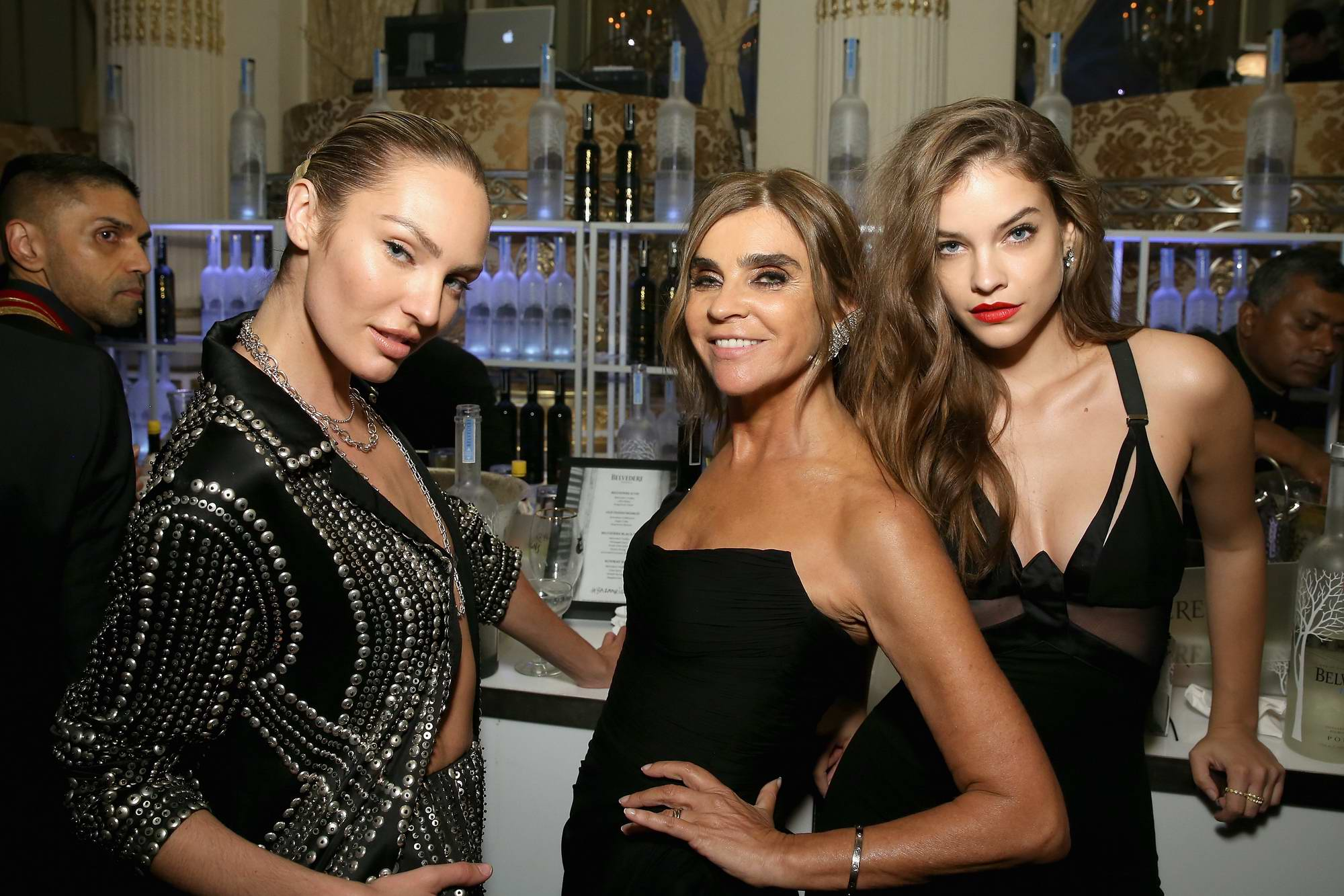 Barbara Palvin and Candice Swanepoel at the Harper's Bazaar ICONS party at New York Fashion Week