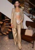 Bella Hadid at Max Mara Boutique re-opening spring summer 2018 New York Fashion Week
