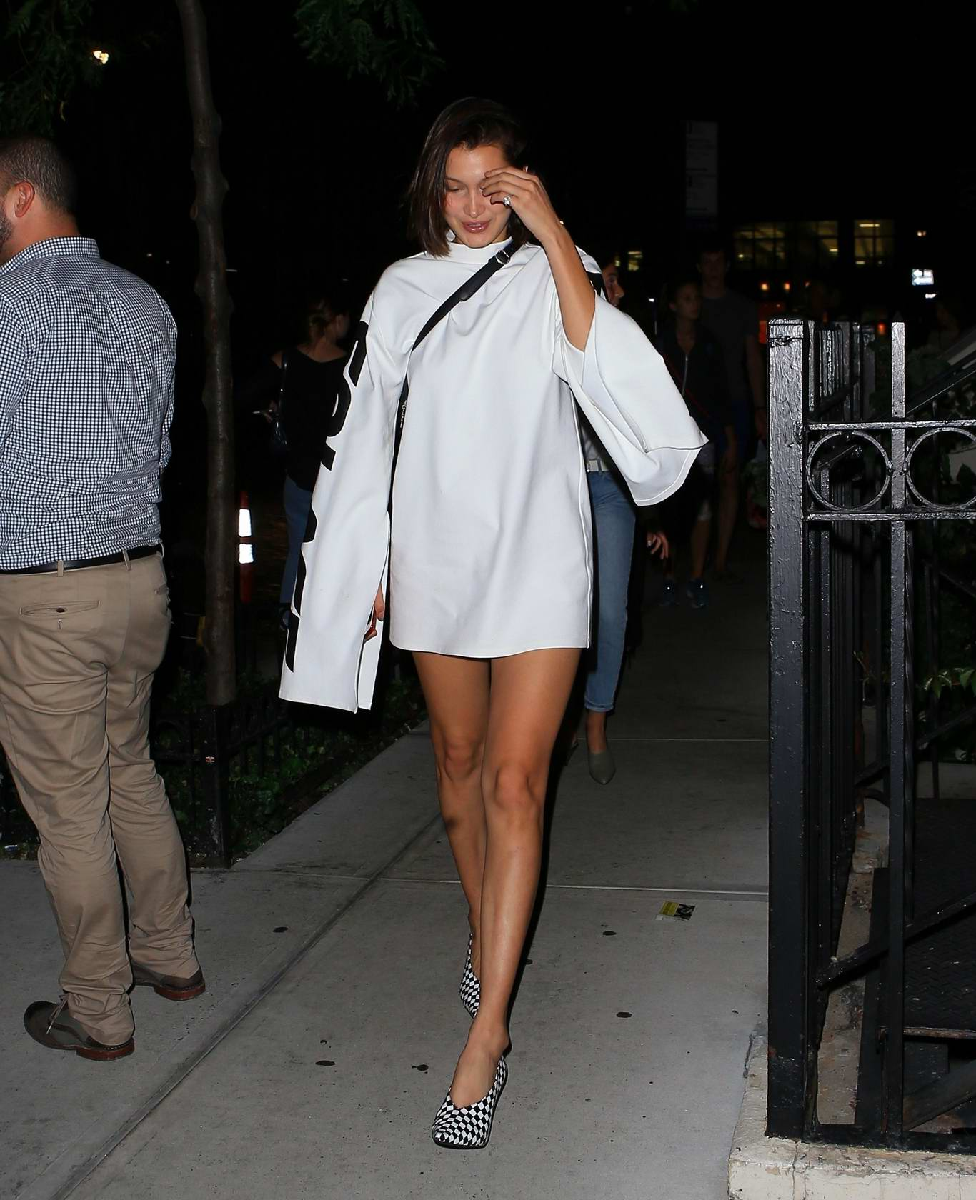Bella Hadid leaving for a night out in New York