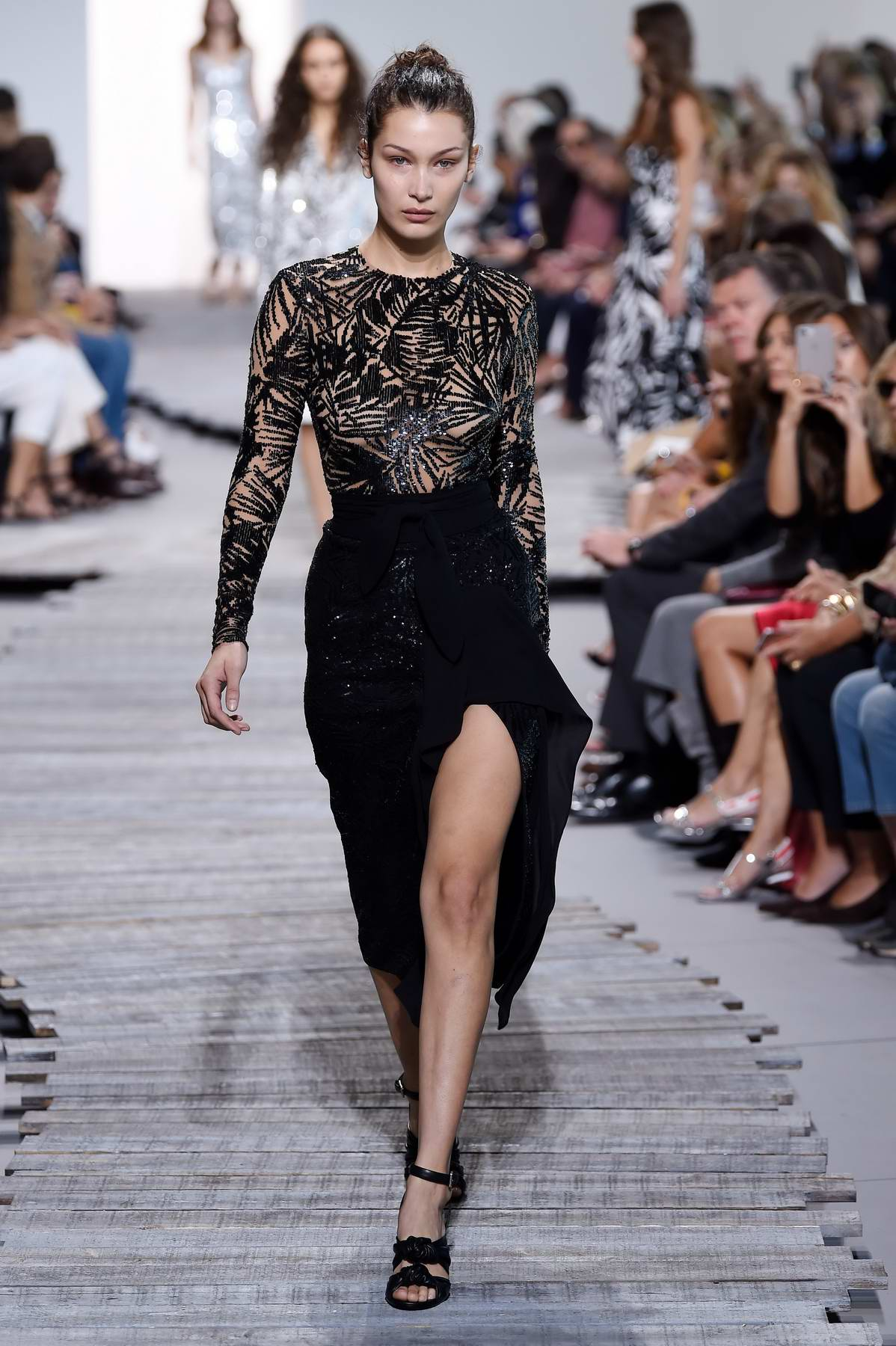 Bella Hadid on ramp for Michael Kor, spring summer 2018 during New York Fashion Week