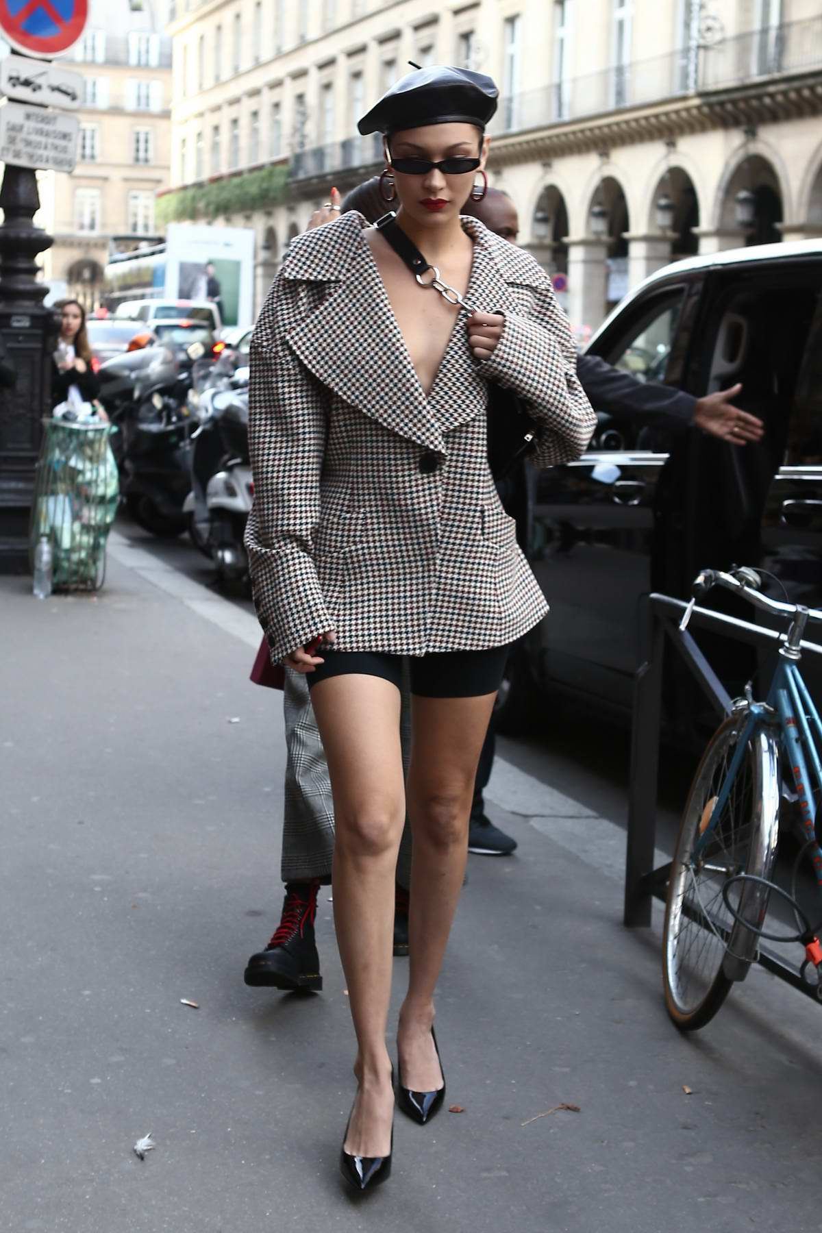 Bella Hadid out and about during Fashion Week in Paris, France