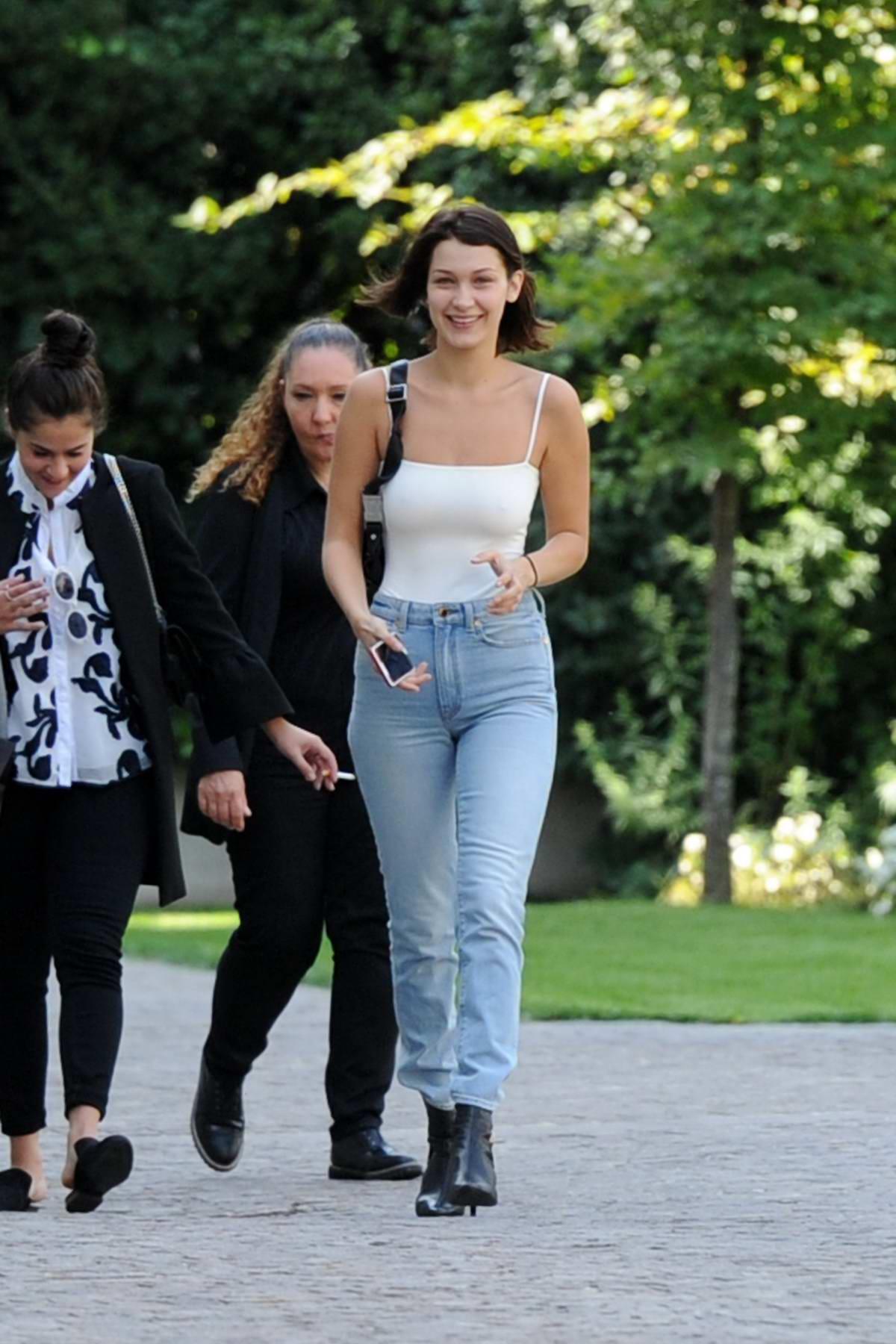 Bella Hadid spotted in Milan during Milan Fashion Week