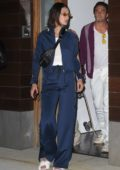 Bella Hadid steps out of Gigi Hadid's apartment in NoHo New York