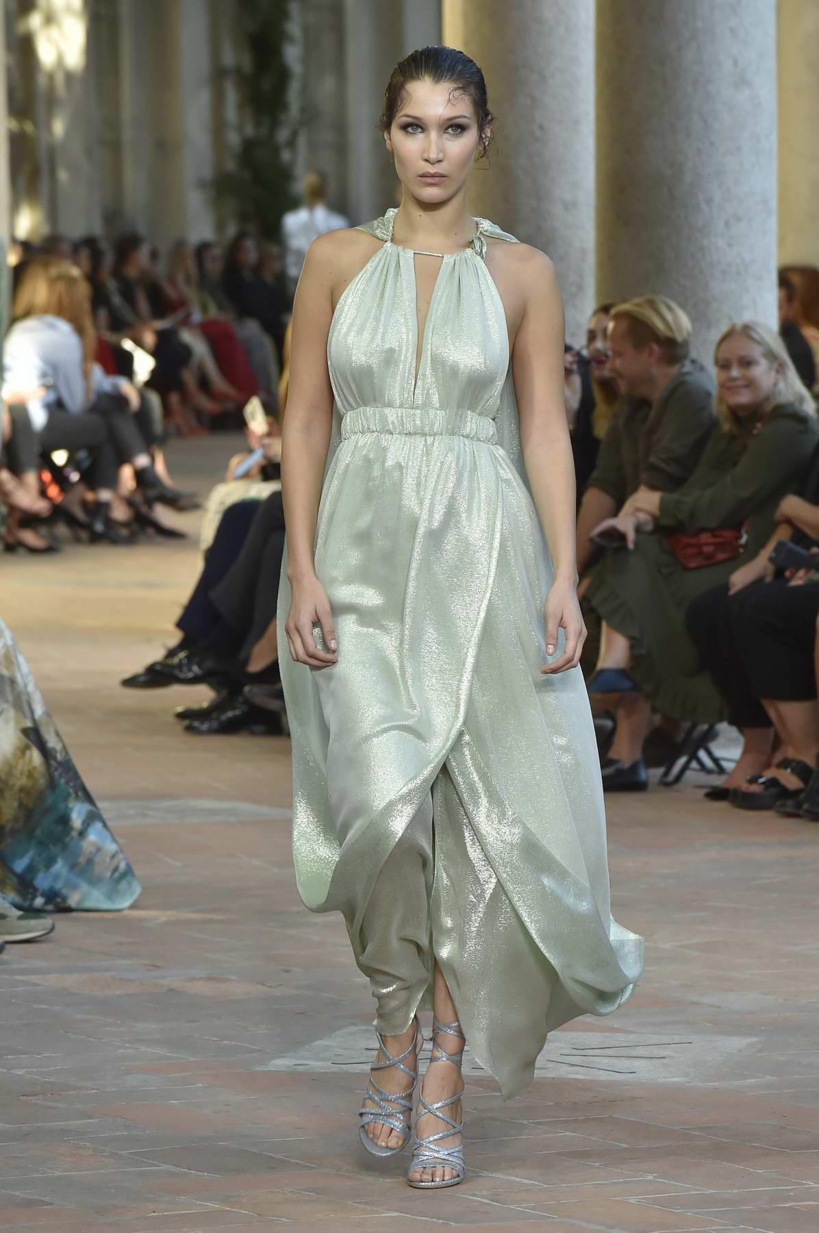 Bella Hadid walking for Alberta Ferretti fashion show during Milan Fashion Week, Italy