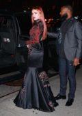 Bella Thorne arrives at the Philipp Plein Show during New York Fashion Week