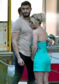 Britney Spears and boyfriend Sam Asghari hold hands at Disneyland