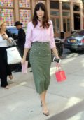 Caitriona Balfe arrives at a downtown hotel in New York City