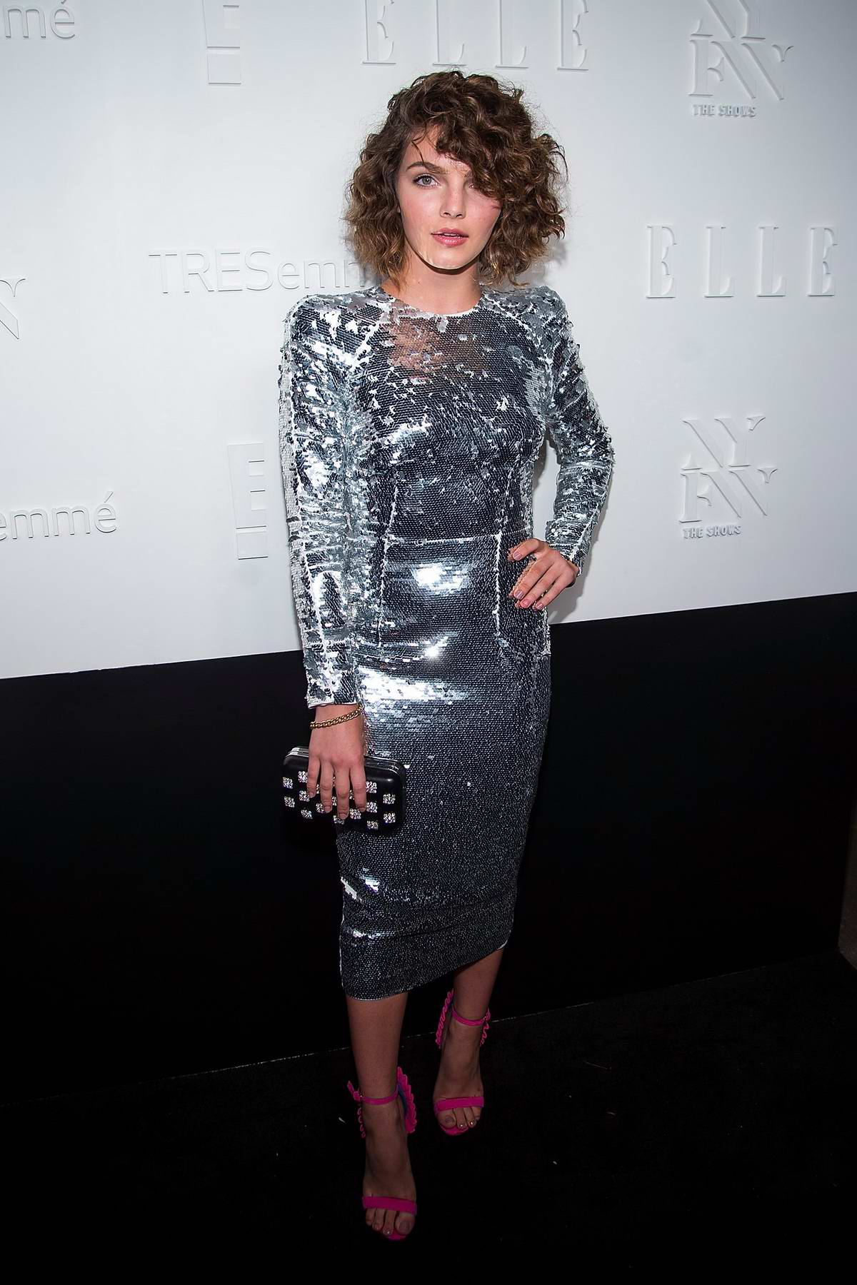 Camren Bicondova at Elle IMG party spring summer 2018 at NYFW in New York
