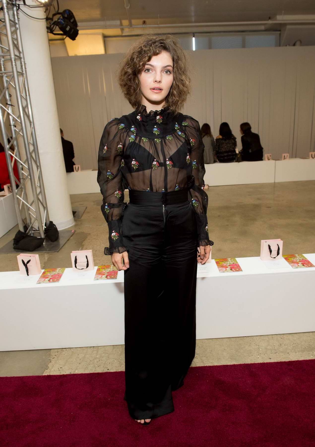 Camren Bicondova at the Jill Stuart Show, spring summer 2018 during New York Fashion Week