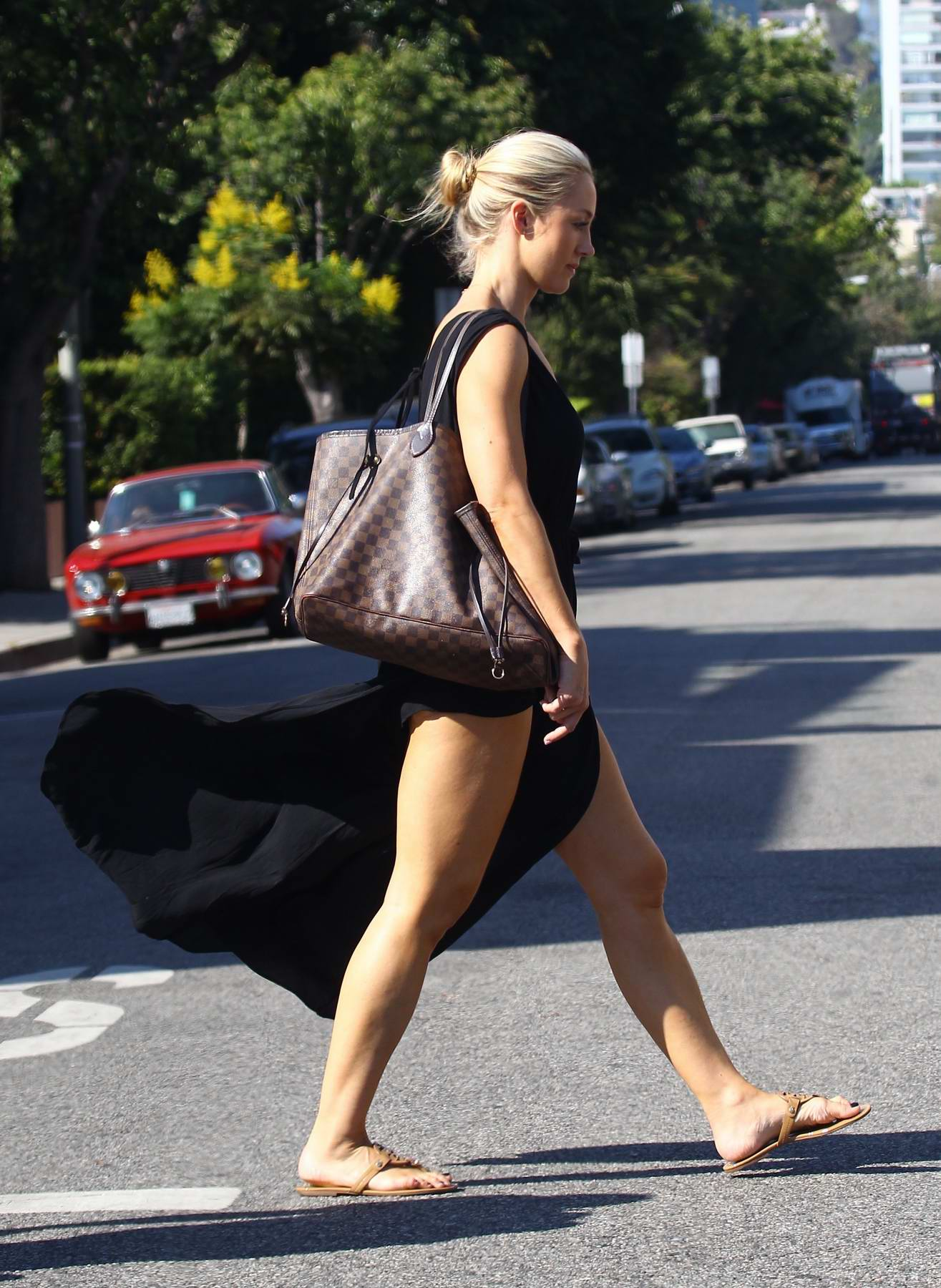 Caroline Pearce out and about in West Hollywood, Los Angeles