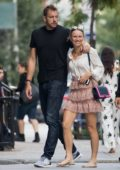 Caroline Wozniacki and David Lee spotted with a real estate broker in New York City