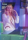 Cat Deeley attends The One Show at the BBC Studios in London