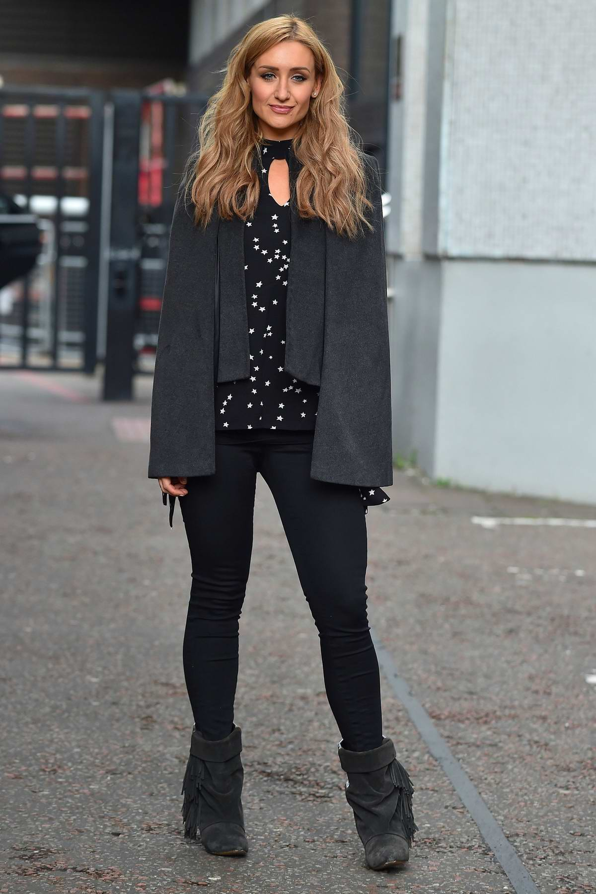 Catherine Tyldesley spotted at the ITV Studios in London