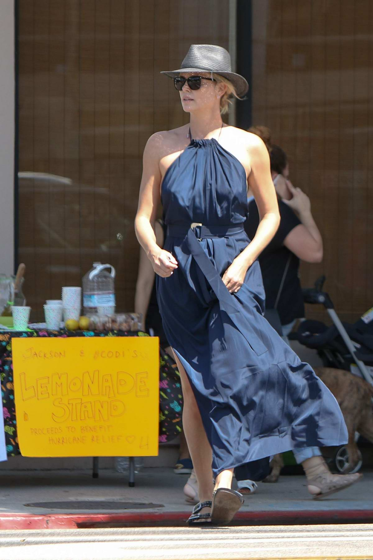 Charlize Theron spotted out doing some shopping in West Hollywood, Los Angeles
