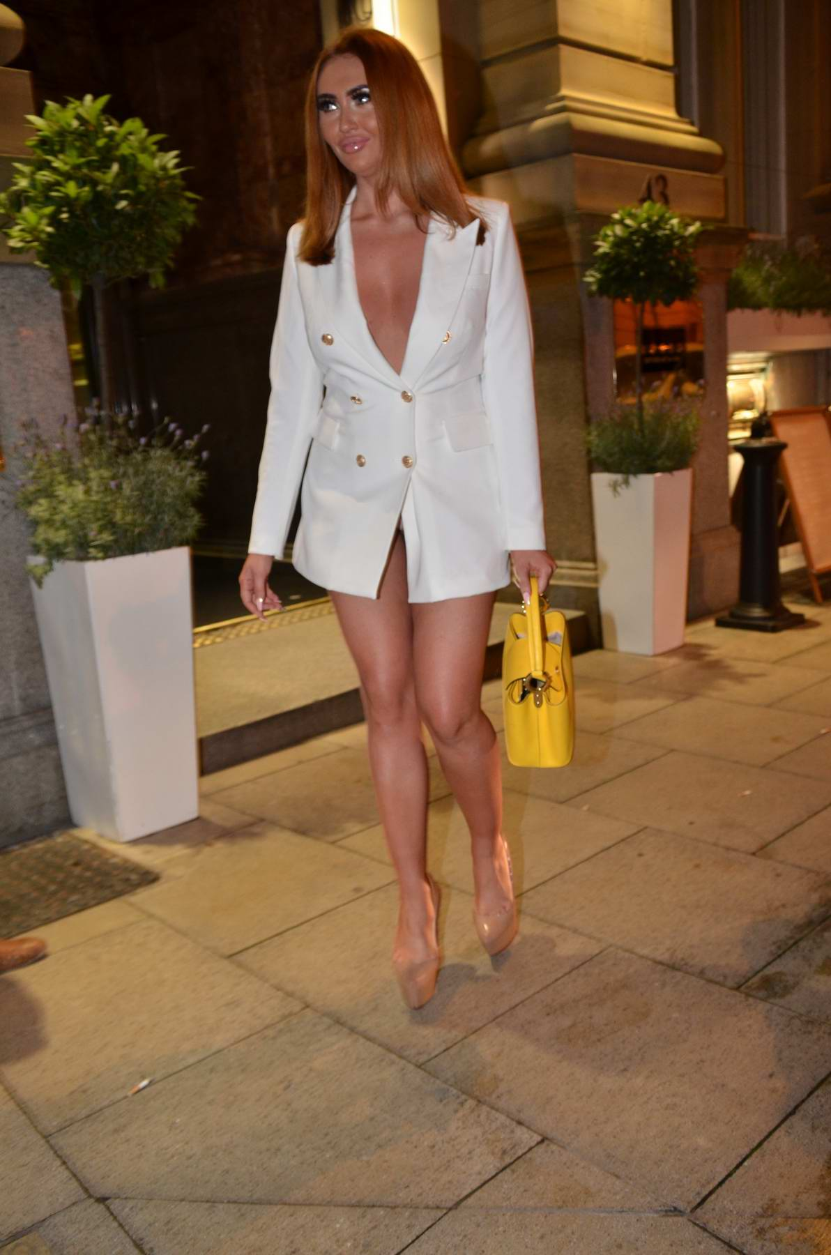 Charlotte Dawson seen leaving Rosso Bar and Restaurant in Manchester, UK