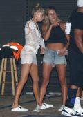 Charlotte McKinney spotted out for dinner with friends at Nobu in Malibu, California
