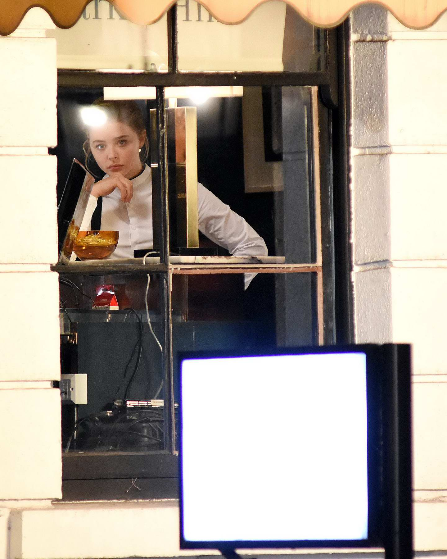 Chloe Grace Moretz films New York scenes on Dawson Street on the Neil Jordan directed movie The Widow in Dublin, Ireland