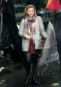 Chloe Grace Moretz on day two of filming of Neil Jordan directed movie 'The Widow' in Dublin, Ireland
