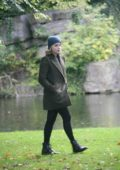 Chloe Grace Moretz on set of Neil Jordan movie in Dublin, Ireland
