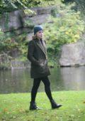 Chloe Grace Moretz on set of Neil Jordan movie in Dublin, Ireland