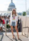 Chloe Lloyd at the launch of D&Ds new club brunch series at Madison Rooftop Terrace in London