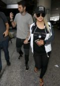 Christina Aguilera and fiance Matthew Rutler arrive at LAX Airport in Los Angeles