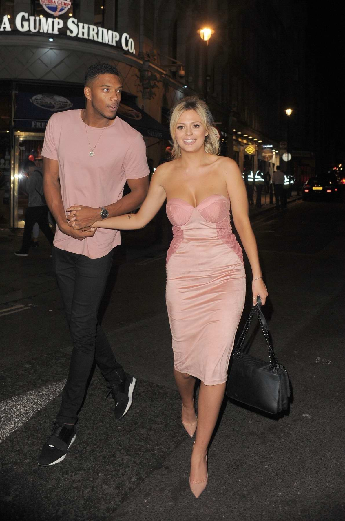 Danielle Sellers and Theo Campbell spotted together leaving DSTRKT nightclub in London