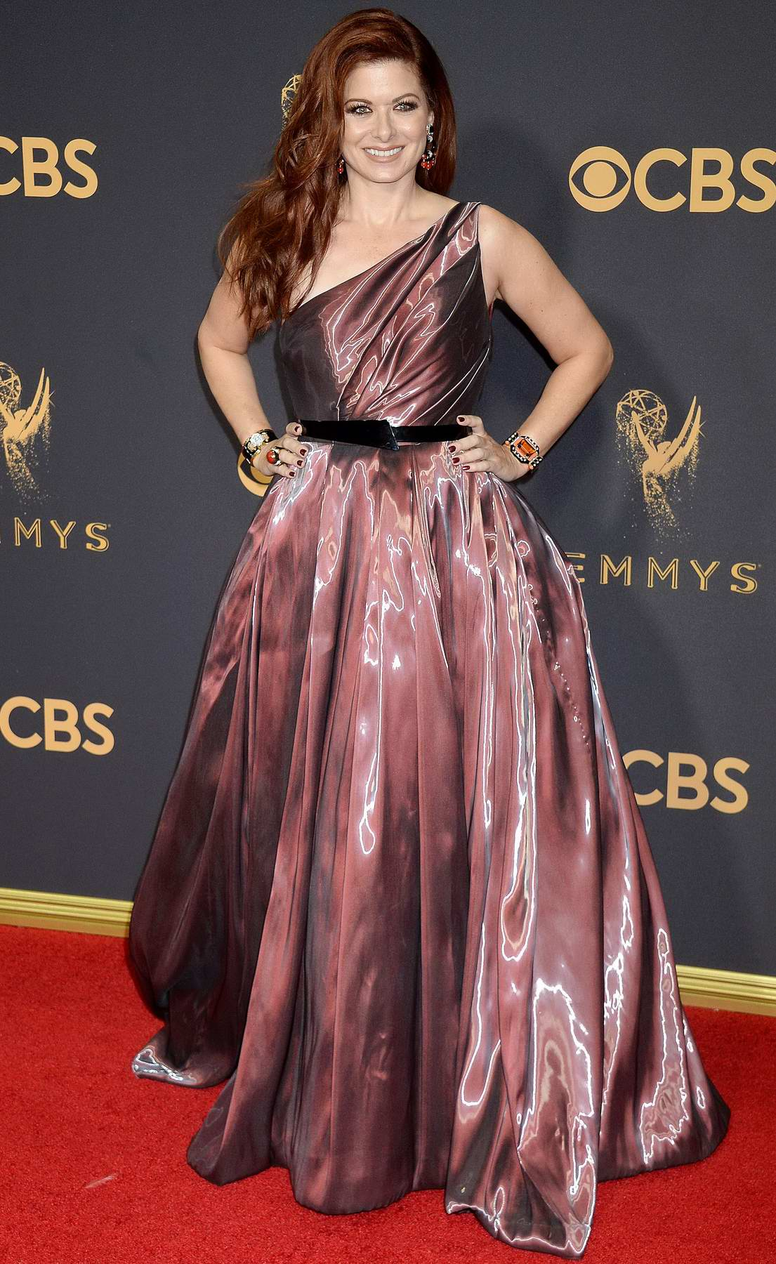 Debra Messing at 69th Annual Primetime EMMY Awards held at Microsoft Theater in Los Angeles