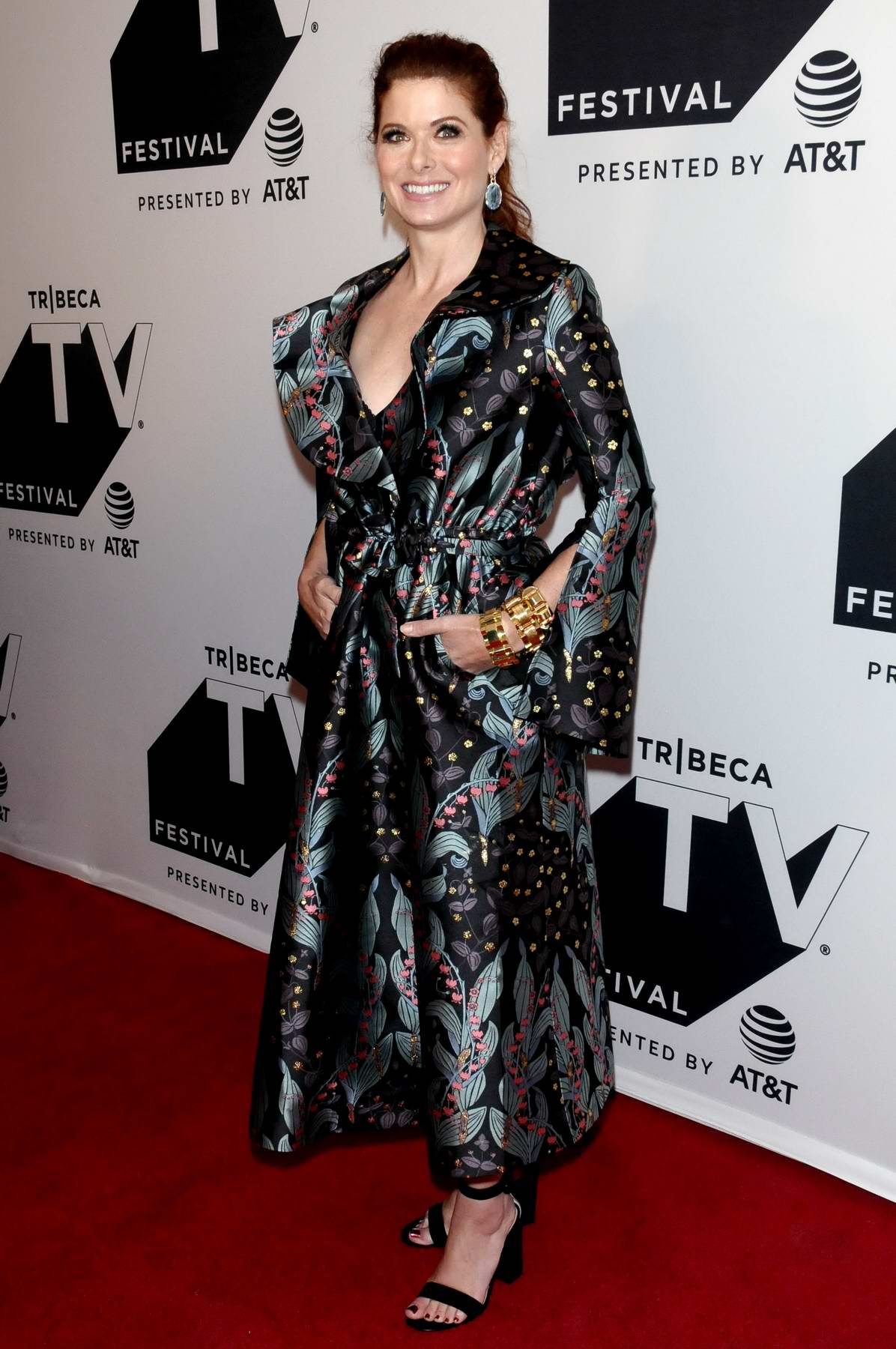 Debra Messing at the Will and Grace: An exclusive celebration and conversation with cast and creators during Tribeca TV Festival in New York