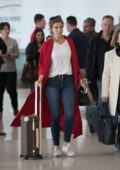 Delta Goodrem makes a low key arrival into Adelaide, Australia