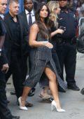 Demi Lovato arriving at Good Morning America in New York City