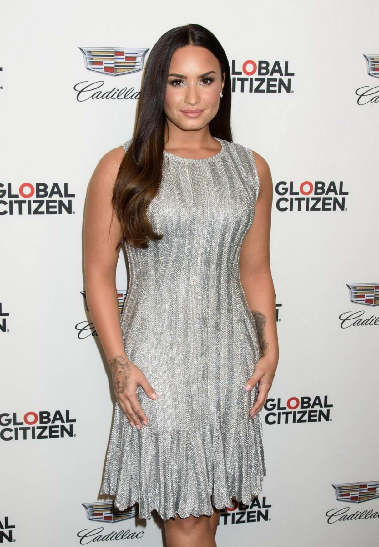 Demi Lovato arrives at Global Citizen and Cadillac House present Demi Lovato in Concert in New York