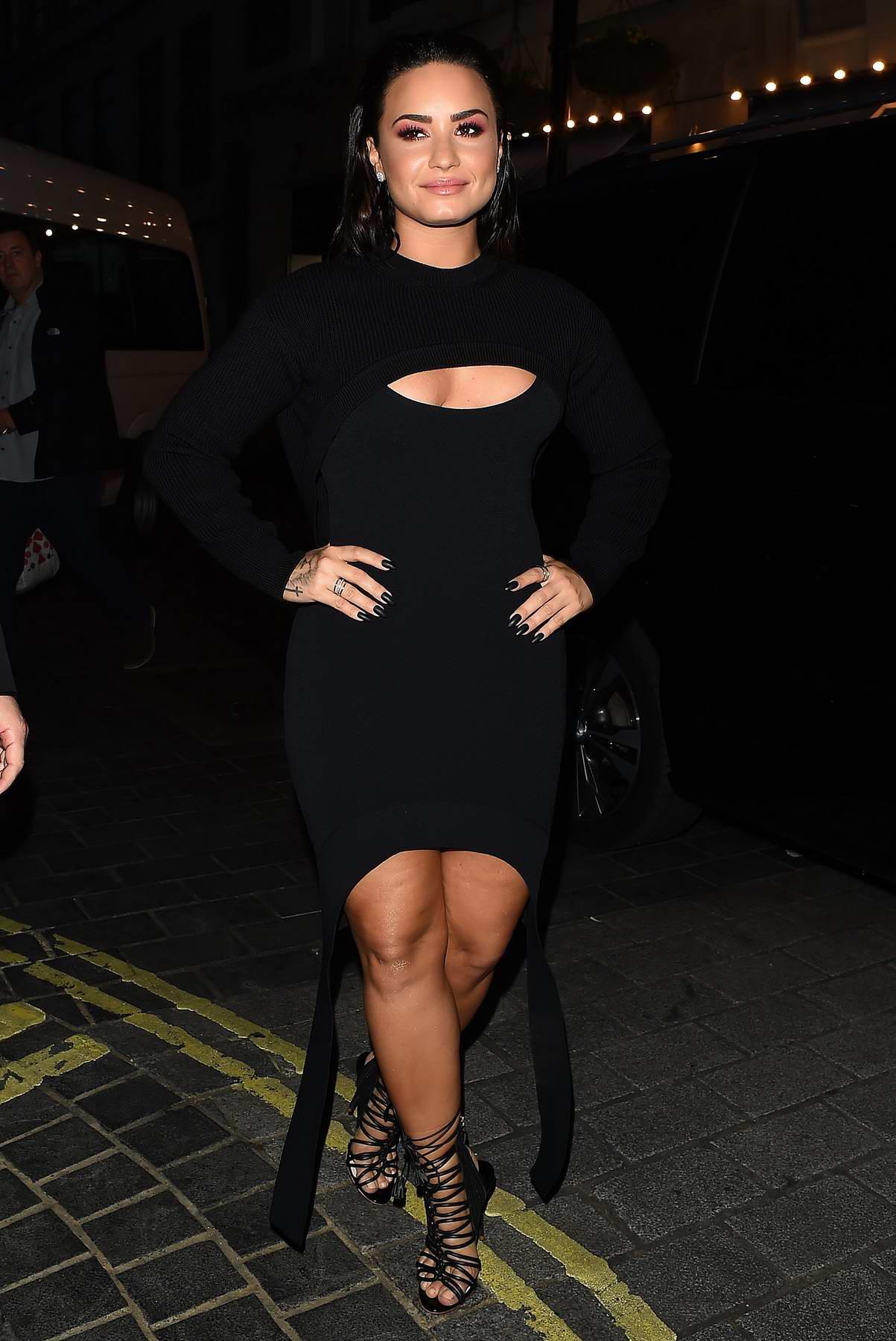 Demi Lovato attends album launch party in London