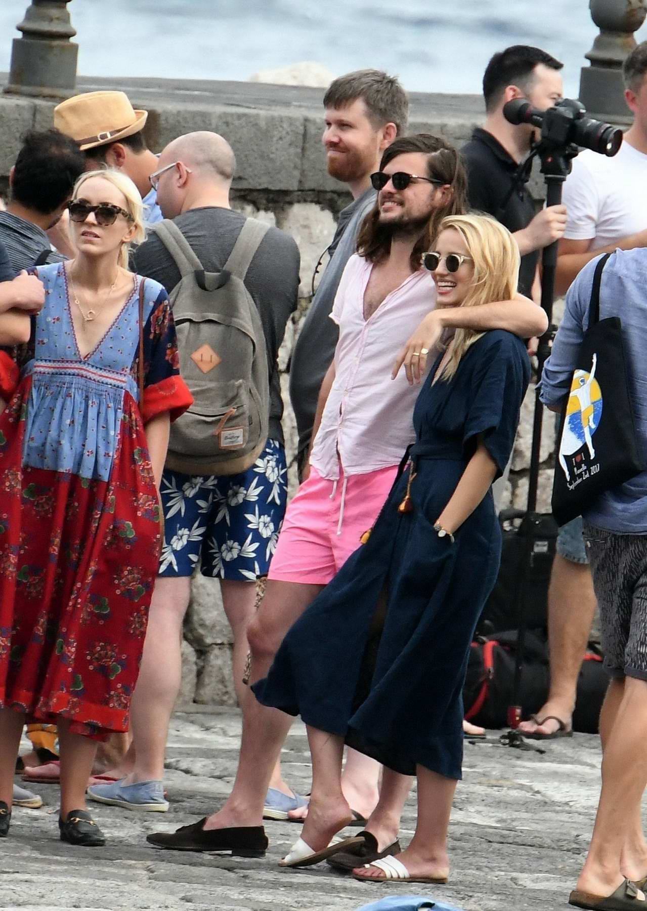 dianna agron and husband winston marshall arrived to ...