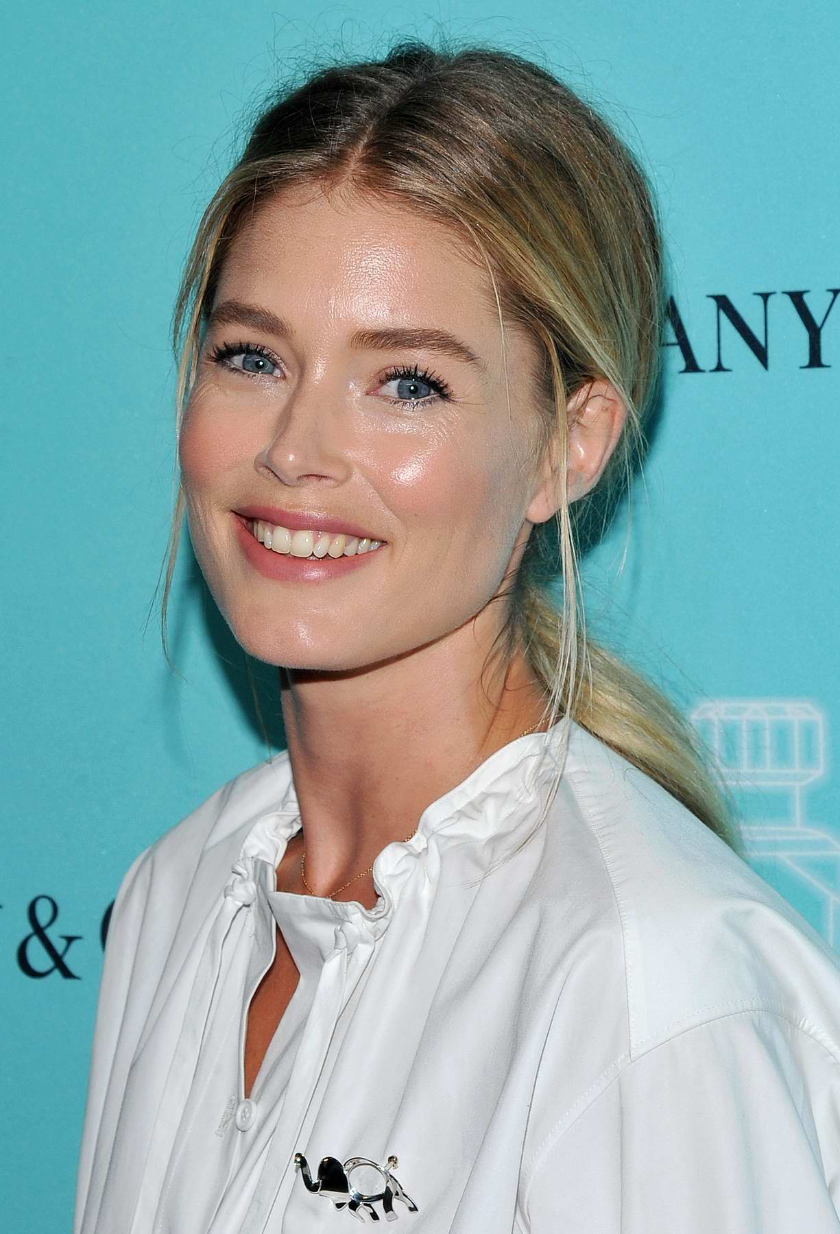Doutzen Kroes at Tiffany and Co Fragrance launch in New York
