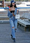 Eiza Gonzalez enjoys a day off from filming to visit famous Granville Island in Vancouver, Canada