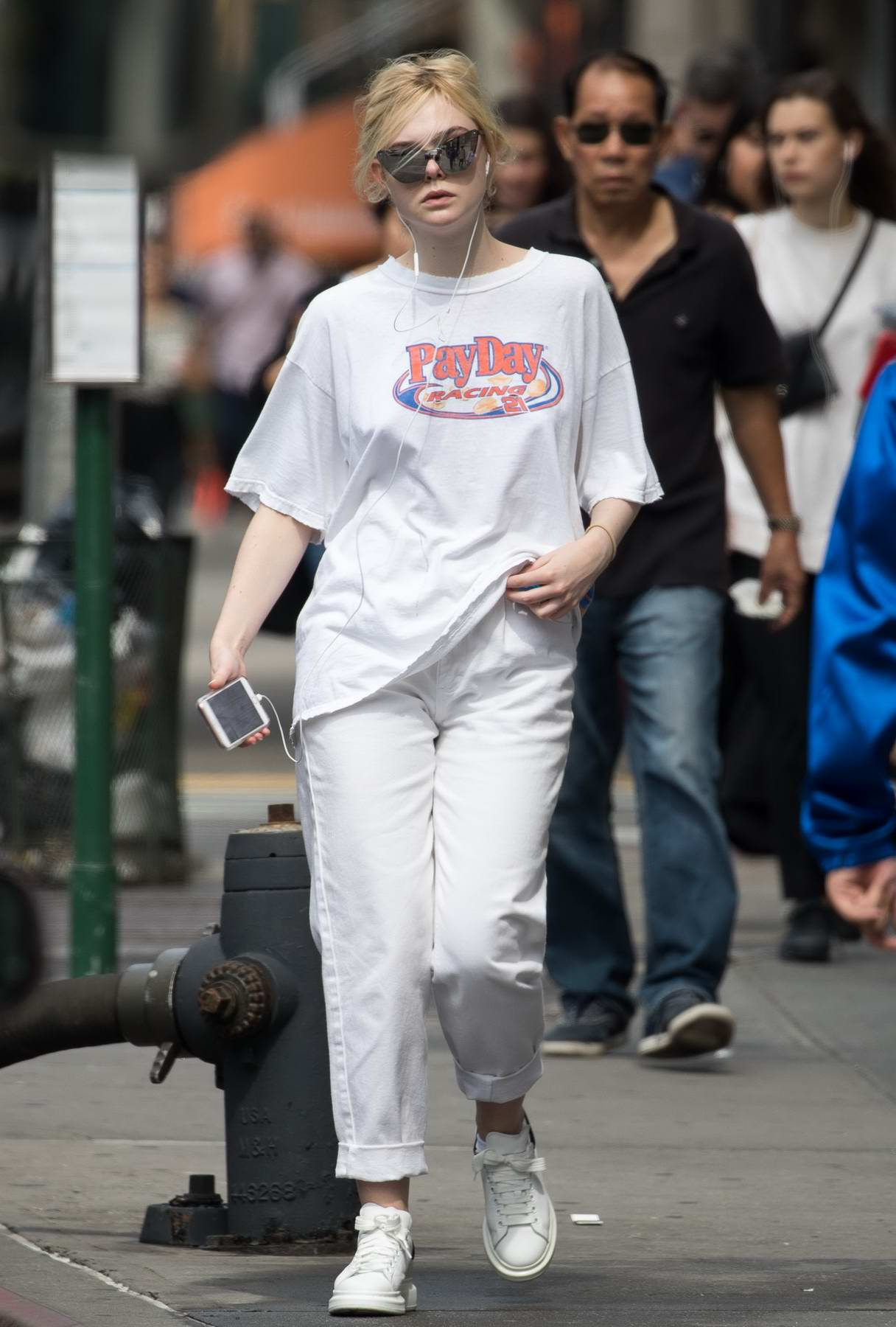 Elle Fanning dressed casual while out and about in New York City