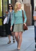 Elle Fanning on the set of untitled Woody Allen film in New York