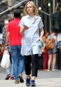 Elle Fanning out shopping with her mother Heather Joy in Soho, New York
