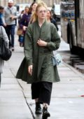 Elle Fanning sports stylish glasses while out and about around Soho neighborhood in Manhattan, New York