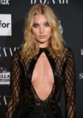 Elsa Hosk at the Harper's Bazaar ICONS party at New York Fashion Week