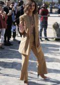 Emily Ratajkowski arriving at Fashion Nina Ricci during Paris Fashion Week, France